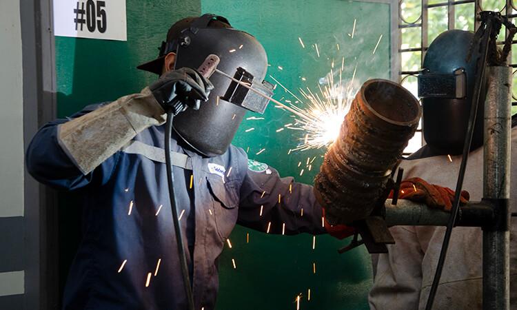 Shielded metal arc welding