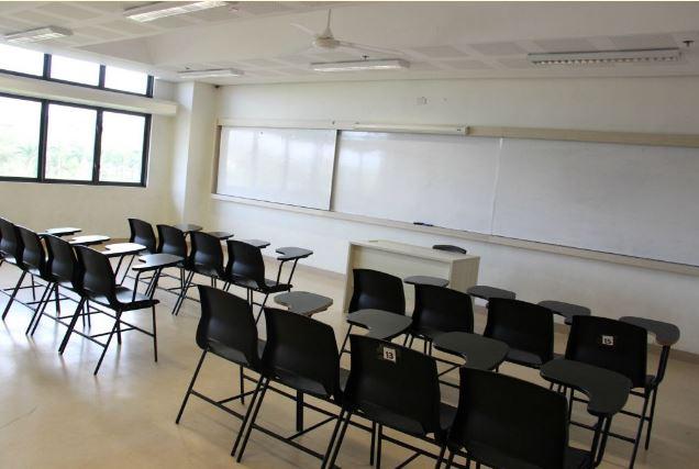 High school classroom