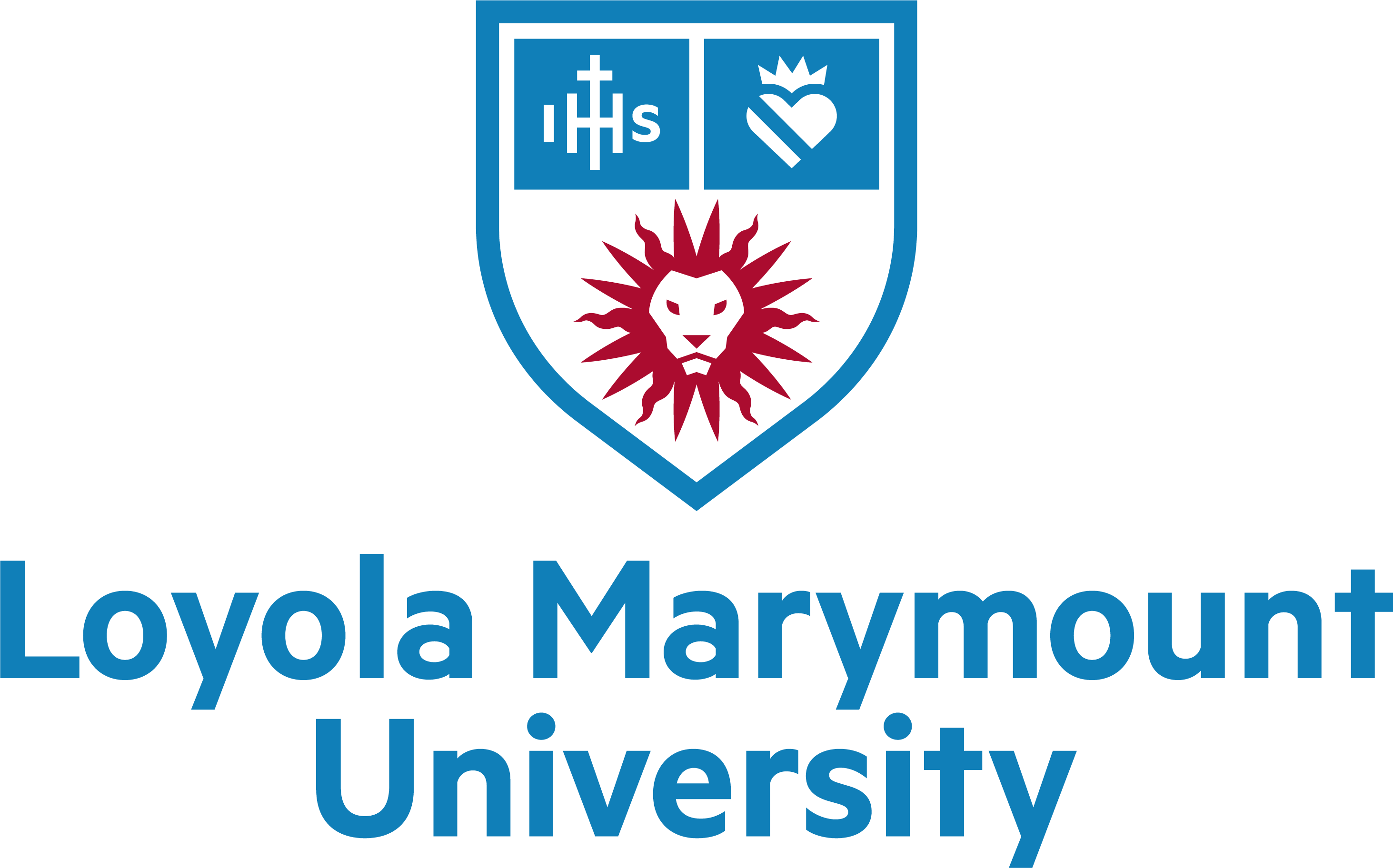 Lmu universitylogo lockup fullname centered rgb crimsonblue