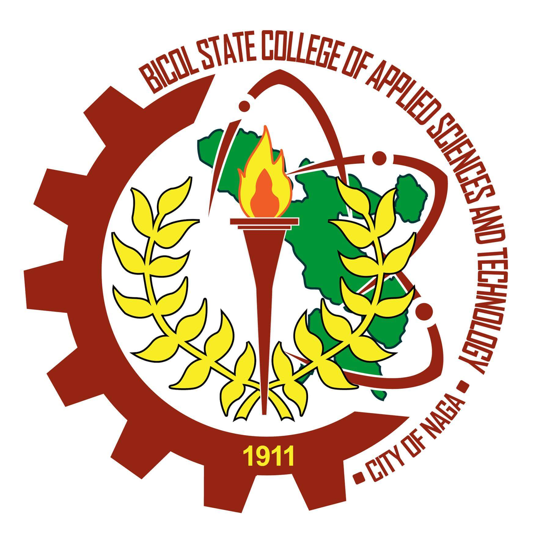 Bicol state college of applied sciences and technology logo