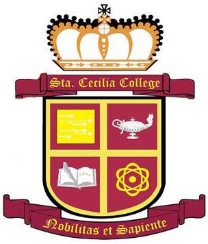 Sta cecilia college logo