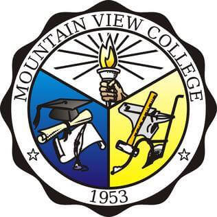 Mountain view college logo
