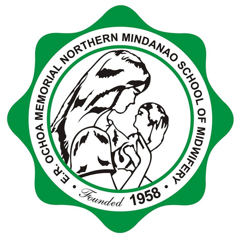 Elisa r ochoa memorial northern mindanao school of midwifery logo