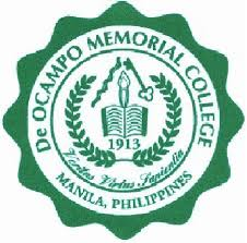 De Ocampo Memorial College Logo